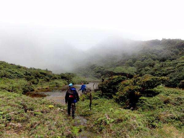 Tenorio volcano crater lake in the mist