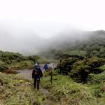 Tenorio volcano crater in the mist