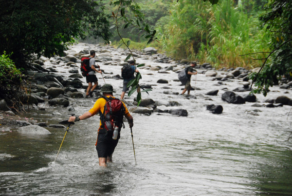 We frequently crossed the same river dozens of times and it was completely hopeless to try to keep your feet dry