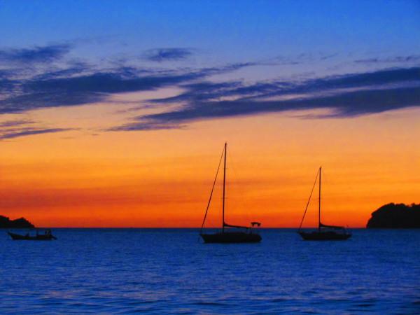Sailboats at Sunset playa Hermosa Guanacaste