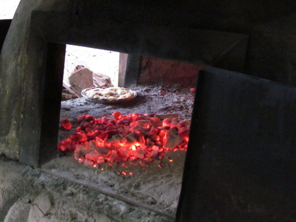 Wood fired brick and clay pizza oven (horno)