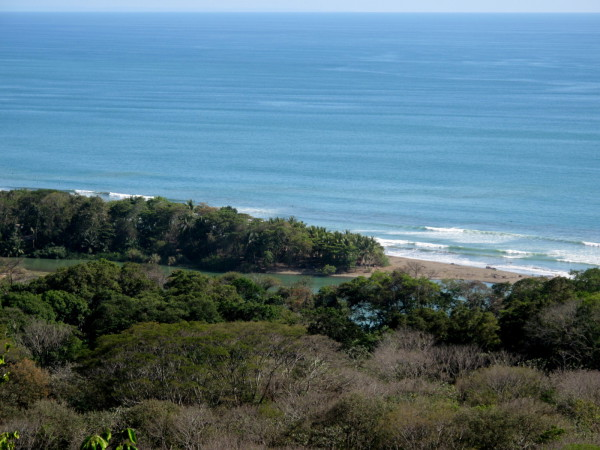 Mouth of the Río Barú from the wildlife refuge mirador
