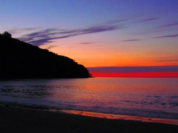 Sunset on Playa Cuajiniquil north edge of Santa Rosa National Park, Guanacaste Costa Rica
