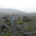 It's misty at the top of the main crater trail, Volcán Turrialba National Park