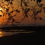 Sunrise over Playa Platanares, Golfo Dulce, Osa Peninsula side
