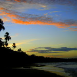 Sunset Playa Manzanillo, southern Caribbean Costa Rica
