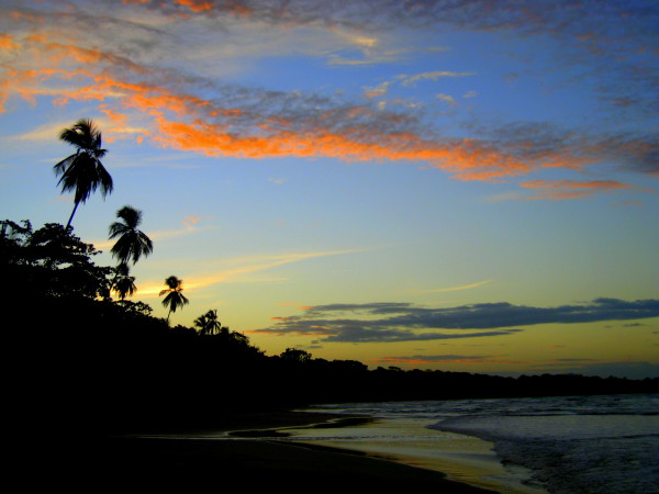 Sunset Playa Manzanillo, southern Caribbean Costa Rica