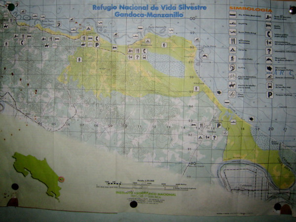 Gandoca Manzanillo map
