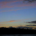 The moon and venus Playa Manzanillo Costa Rica