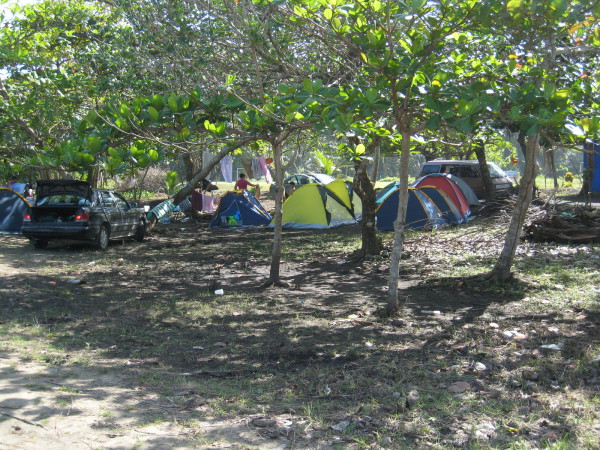 Campground at Playa Manzanillo