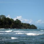 Looking back at Punta Manzanillo from the Punta Mona side