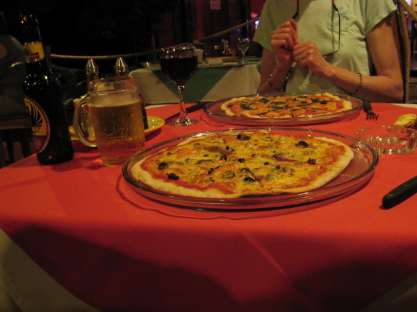 Pizza at Corleone's Restaurant Cahuita