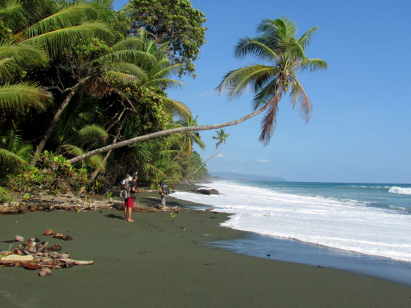 Barefoot backpacking - Some moments you can only get by earning them with sweat. The only way to reach this stretch of beach in Corcovado is on foot because the surf is too dangerous to land boats