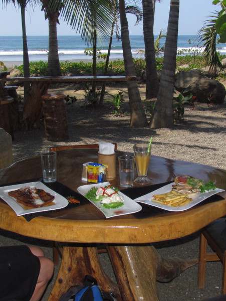Breakfast, lunch and dinner are all available beachfront on Playa Marbella