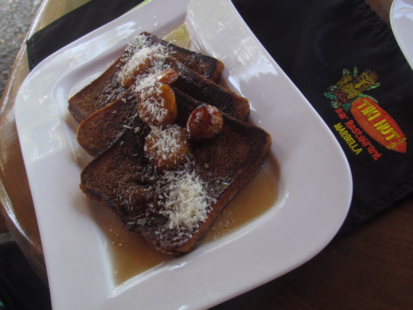 Carmelized french toast