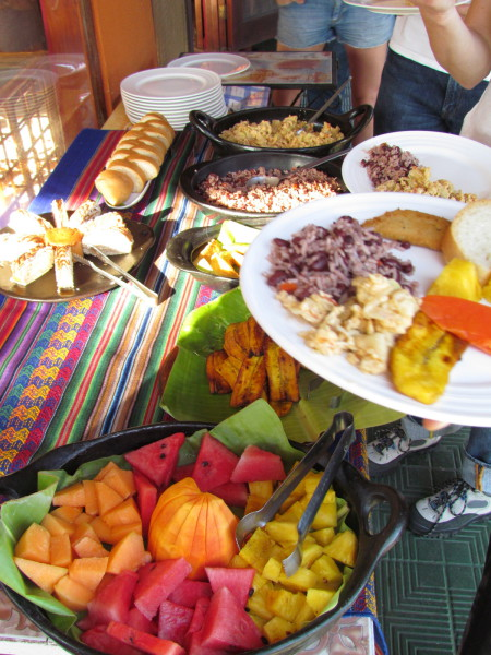 Tropical breakfast buffet - What did you have for breakfast?
