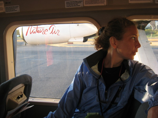 Sue in the Nature air twin engine to Limon