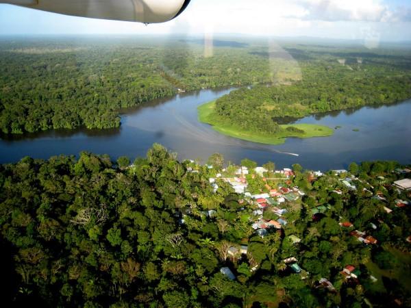 Tortuguero Village aerial