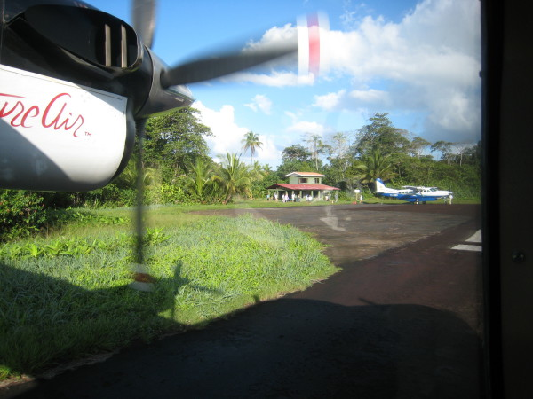 Tortuguero Airport (yes that's all there is to it). This is downright fancy compared to Drake and a big step up from the dirt track in the jungle at Sirena.
