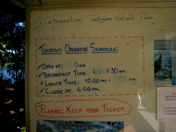 National park office operating hours