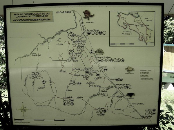 Tortuguero conservation area map
