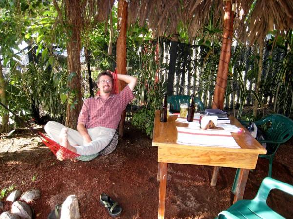 Relaxing in Tortuguero