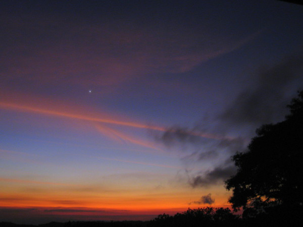 Venus over Monteverde at sunset