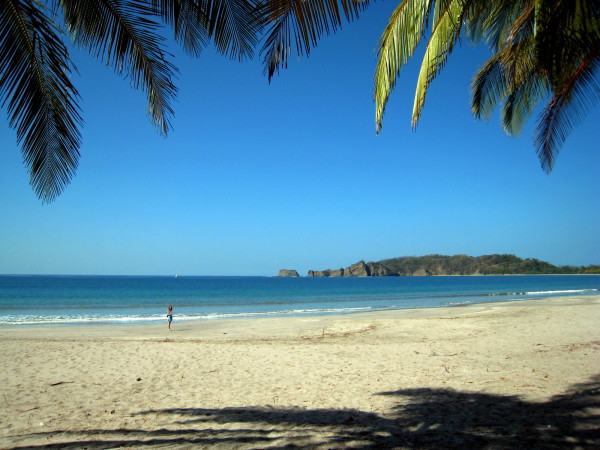 Playa Carrillo south of Samara on the central Nicoya peninsula Pacific facing coast. Many people say this is the most beautiful beach in Costa Rica