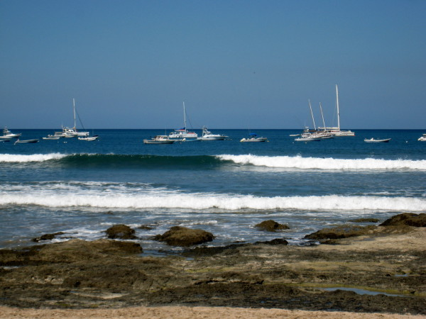Boats off Tamarindo