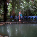 Termales de Bosque natural hot springs six km west of Aguas Zarcas in the northern lowlands