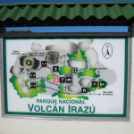 Irazú Volcano National Park trail and attractions map