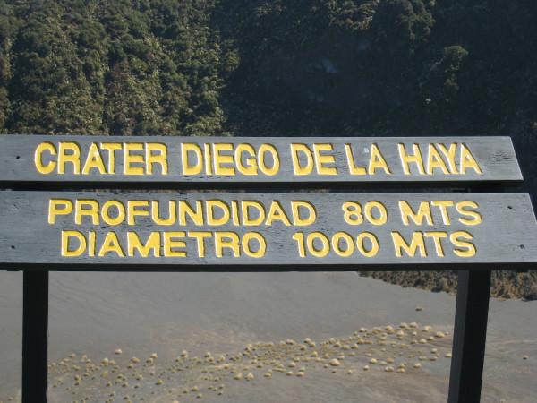 Crater Diego de la Haya, Irazu