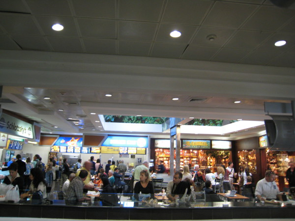 The food court at SJO