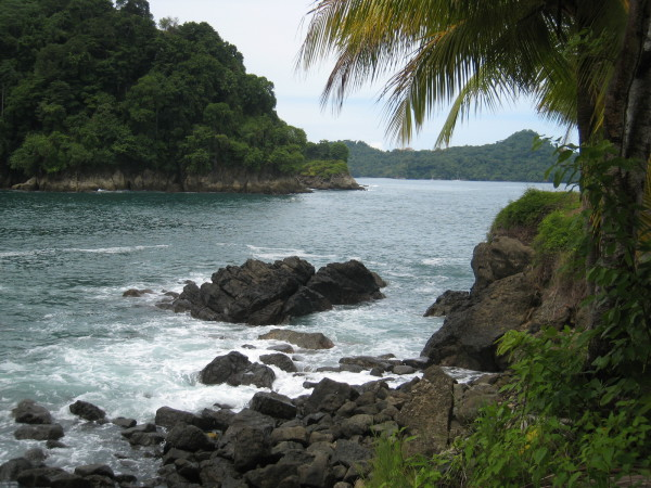 View towards Manuel Antonio from Quepos