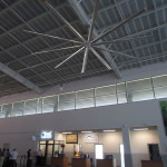"They've got giant helicopter size ceiling fans in the new terminal at LIR, just like they did in the old. Manufactured by the ""Big Ass Fan"" corporation...no kidding."