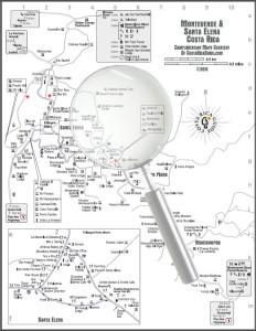 Monteverde and Santa Elena maps larger image