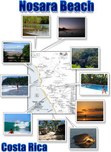 Nosara & Guiones Beach photo map