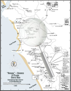 Nosara and Guiones Beach Map Magnify