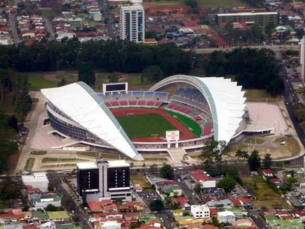 The new National Stadium in Sabana. Seating for 30,000 staff of 2,100...parking for 220...hmmmm...