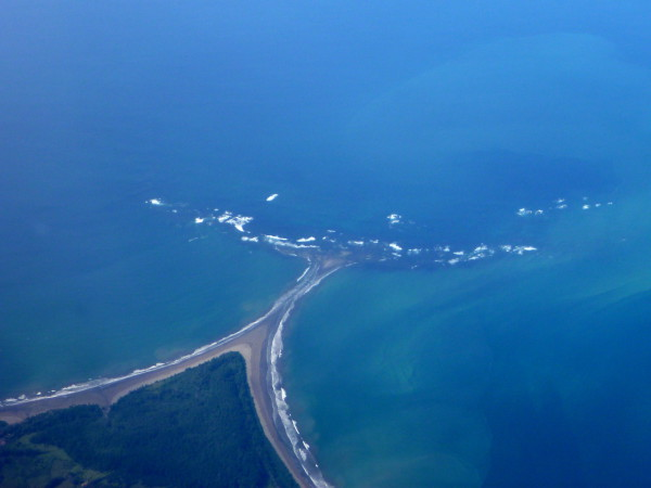 Whale tail and the long beaches of Uvita, Marino Ballena National Park