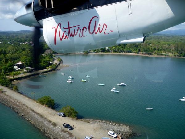 Approach to the Puerto Jimenez air strip