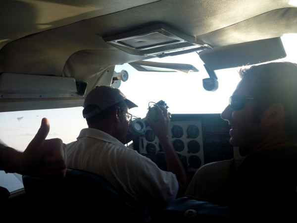 Ryan (in the co-pilot seat) getting the thumbs up from Edwin even though he barely knows the difference between an egg yolk and a flying yoke. Air taxi Alfa Romeo