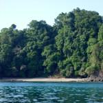 Mini beach on Isla del Cano off the coast of the Osa Peninsula