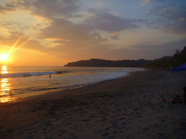 Sunset over Playa Espadilla Manuel Antonio