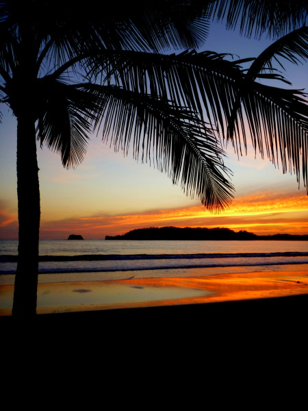 Sunset Playa Carrillo, south of Samara on Costa Rica's Nicoya Peninsula
