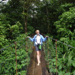 Bridge on the Sendero Tucanes on the southern edge of Arenal Volcano National Park