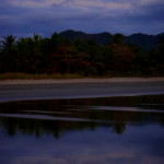 Rising moon reflected in the Pacific ocean at playa Coyote - Nicoya