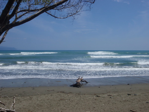 A left and a right handed surf break are conveniently within shouting distance at Boca Sombrero