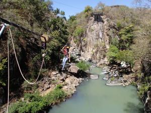 Canyon zip-line, Rio Perdido, Guanacaste