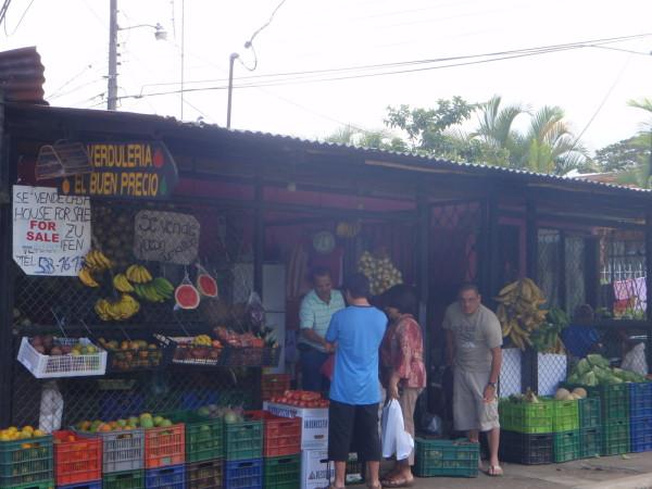 Fruit stand in Orosi